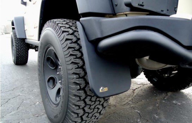 aev jk mud flaps rear seven slot off road. Black Bedroom Furniture Sets. Home Design Ideas